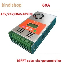 mppt Solar Charge Controller 60A 12V 24V 36V 48V auto switch LCD display 60A MPPT Solar Charge Controller(China)