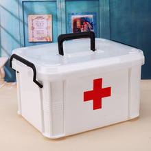 33x24x19cm Large Family Home Medicine Health Care Plastic Drug First Aid Kit Box Storage Box Chest of Drawers