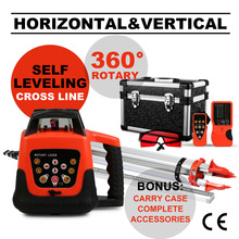 Buy Updated Automatic Self-leveling Rotary Red Laser Level 500m Range + Tripod + 5m Staff for $217.89 in AliExpress store