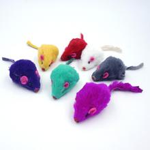 ANGRLY 5pcs Creative False Mouse Pet Cat Toys Cheap Mini Funny Playing Toys For Cats Kitten Multi color random Size 5*2Cm