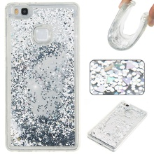 Buy Back Case Cover Huawei P9 Lite Glitter Quicksand Floating Bling Sequins Liquid TPU Case Huawei P9 Lite G9 Lite Coque for $3.49 in AliExpress store