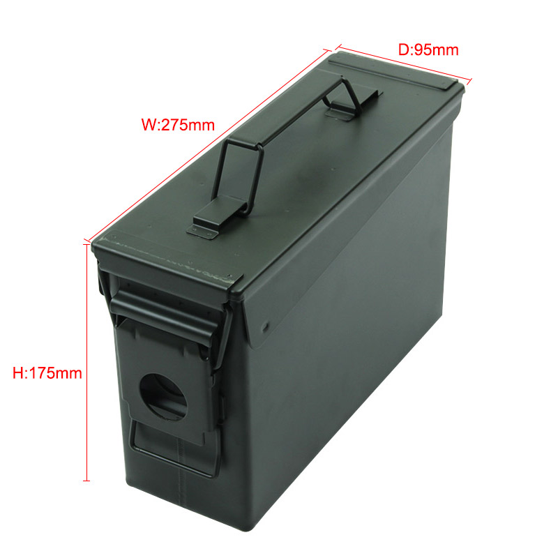 Ammo Case Box Metal Can M19A1 Military Solid Steel Holder Box for Long-Term Ammo Storage Heavy Duty Case Tactical Bullet boxes (24)