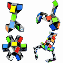 3D Magic Ruler Puzzle Snake/Scorpion 24/36/48/72 Twist Cube Toys Children Educational Special Gifts(China)