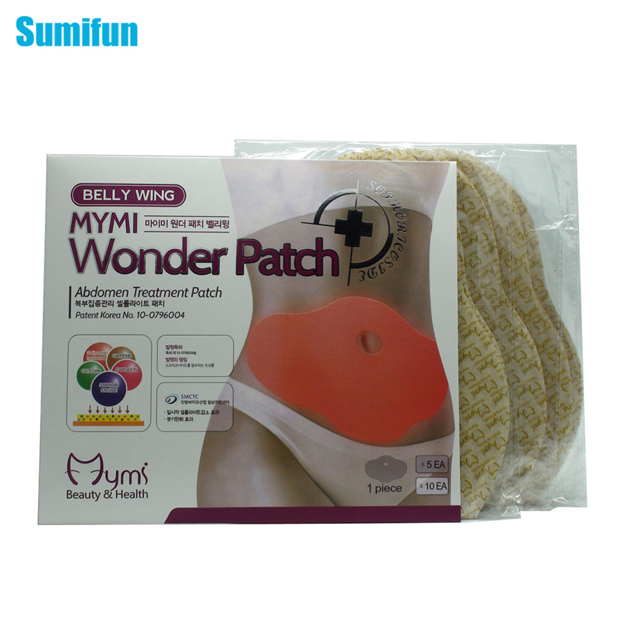 15Pcs MYMI Wonder Slimming Patch Belly Abdomen Weight Loss Fat burning Slim Patch Cream Navel Stick Body Massager C322 4