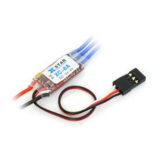 XC-6A RC hobby car brushless ESC 6A 1-2S 4g electronic speed controller 3 modes 2-way forward brake reverse crawler(China)