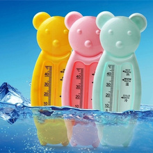 Water Thermometers 2016 New Bath & Shower Products Newborn Cartoon Bear Baby Bath Measuring Temperature Necessary Bath Toys(China)