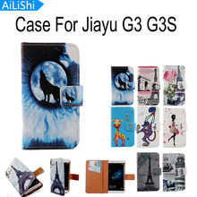 AiLiShi 1X Optional Cartoon Flip With Card Holder Protective Back Cover Skin Pouch PU Leather Case For Jiayu G3 G3S Phone Case