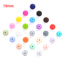 Hot 19MM Round Silicone Beads For Silicone Teething Beads Silicone Loose Beads For Baby Teether BPA Safe DIY Silicone Beads