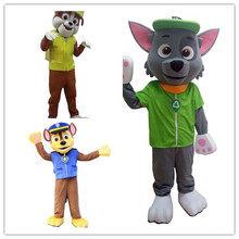 A set of Patrol  Mascot Costume (8 pcs) Animal Character Dog Mascot Costume with free shipping