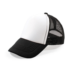 6 Colors Blank Baby Baseball Caps Summer Girls Boys  Foam Mesh Hats for 3-8 Years Old