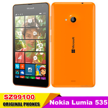 "Nokia Lumia 535 Cell Phones Windows Phone 8.1 5.0"" Touch Screen Quad Core Dual SIM 8GB Storage 5MP Camera Refurbished"