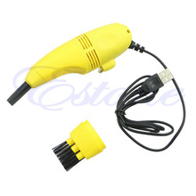 1 PC Computer Vacuum Mini USB Keyboard Cleaner PC Laptop Brush Dust Cleaning Kit