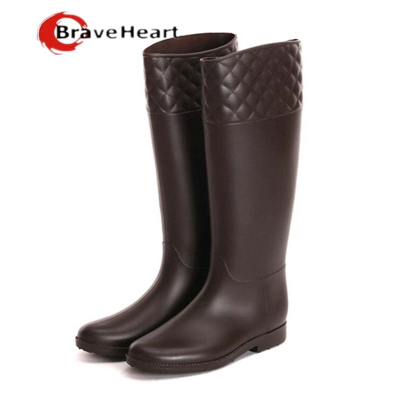 pure color tall rain boots for women 36-39 size outdoor high quality water shoes 2017 new waterproof boots hot sale<br><br>Aliexpress