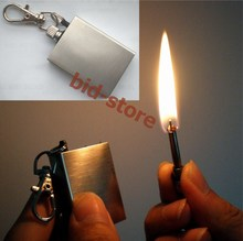 Free shipping 20PCS/LOT Stainless Steel oil Torch metal permanent MATCH box striker Lighter Cigarette Keychain keyring 20(China)
