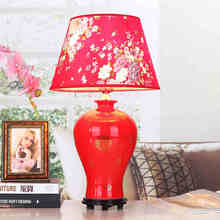 Jingdezhen Vintage style porcelain ceramic desk table lamps for bedside chinese Blue and White Porcelain table lamp ceramic
