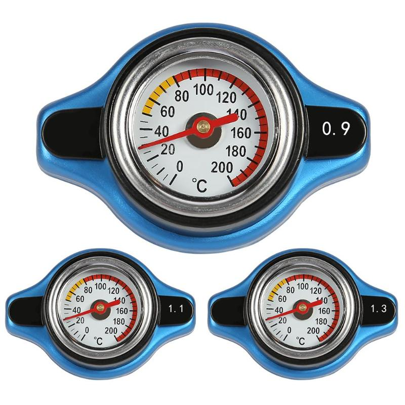 Universal Big Head Thermost Radiator Cap Cover Water Temperature Gauge1.1//1.3Bar