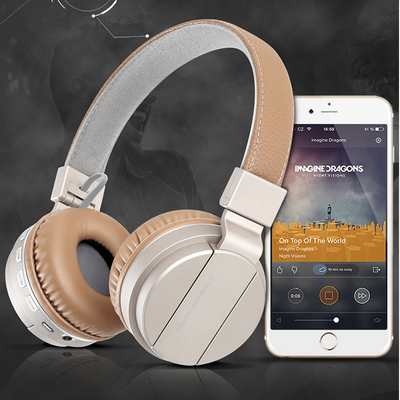 Bluetooth Headphones with Mic Support TF Card FM Radio for Iphone Samsung Xiaomi HTC Stereo Handsfree Call Wireless Headset <br><br>Aliexpress