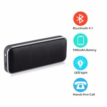 New AEC BT202 Wireless Portable Speaker Super Thin Outdoor Bluetooth Speaker Play Stereo Music with Smart phone/ Answer Phone