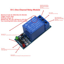 Smart Electronics 5V 1 One Channel Relay Module Low Level for SCM Household Appliance Control for arduino DIY Kit