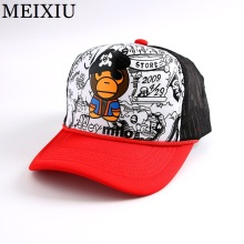 2017 Fashion Monkey Cartoon Sports Summer Caps Snapback Baseball Cap High Gridding Adjustable Bone Hat For Women & Men(China)