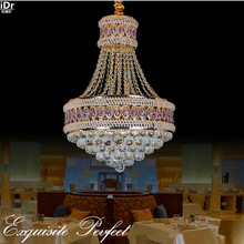 Traditional atmosphere Tyrant gold circular living room lamp crystal lamp bedroom lamp led lighting Chandeliers Lmy-058