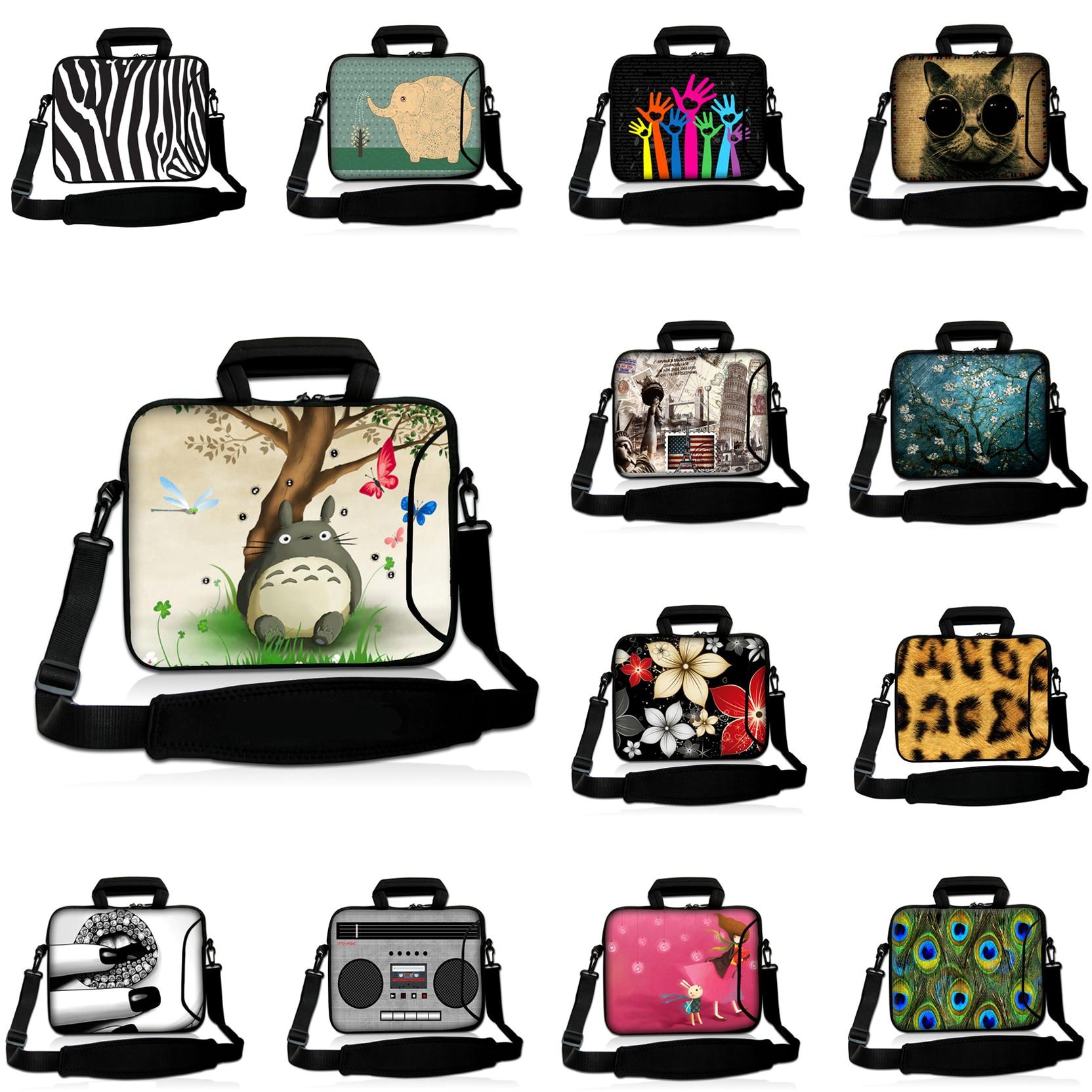 15.6 15.4 15 15.3 inch Neoprene Handbag Computer Notebook Bags For HP Lenovo Boy And Girl Shoulder Strap Messenger Laptop Cases<br><br>Aliexpress