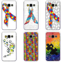 158GH Puzzle Autism Awareness Style Transparent Hard Case Cover for Samsung Note 3 4 5 7 for Galaxy A3 A5 A7 A8 J5 J7