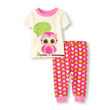 Owl Heart Baby Girls Clothes Suits Cute Children's Outfits Fashion Girls Dress Brand New Kids T-Shirts Trousers