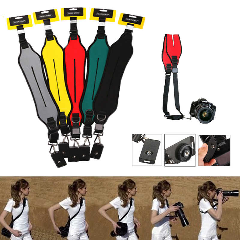 New Quick Camera Strap Rapid Single Shoulder Sling Belt Neck Strap for Canon Nikon Sony Pentax Panasonic Olympus  DSLR Cameras