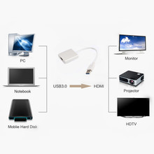 5.0 Gbps HD 1080P USB 3.0 To HDMI   External  Video  Graphic Card Multi Display Cable Adapter Converter  For PC Laptop HDTV LCD