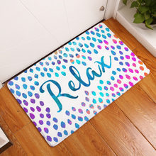 Hyha Door Mats for Entrance Door Character Colorful Words Pattern Carpets Living Room Dust Proof Mats Home Decor