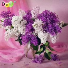 3d DIY Diamond Painting Cross Stitch purple Flower vase Crystal Diamond embroidery Needlework Home Decor rhinestone crafts