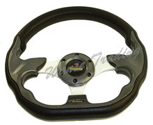 Sale Universal 320mm PU Leather Racing Sports Auto Car Steering Wheel with Horn Button 12.5 inches Carbon Look