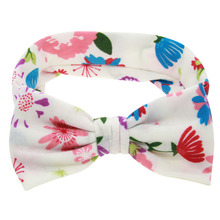 TWDVS Newborn Big Bow Knot Flower Headband Kids Cotton Wrap Elastic Hair Band Ring Hair Accessories W246