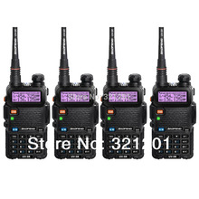 4-PCS New Black BAOFENG UV-5R Walkie Talkie VHF/UHF 136-174 / 400-520MHz Two Way Radio With Free Shipping
