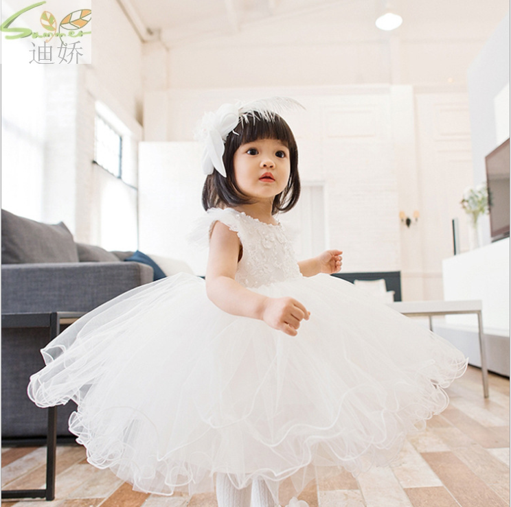 2017 New dresses for girls sleeveless girl party dress for 12M-12T First Communion Dresses for Girls Vestidos de  Free Shipping<br><br>Aliexpress