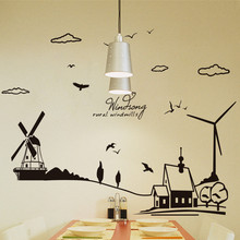 Home Decor DIY Wall Sticker Mural Bathroom Kitchen Christmas Decorations For Home Accessories Wall Paper for Living Room(China)