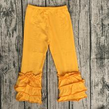 knit high quality baby girls pants children triple ruffle kids icing clothing suppliers china(China)