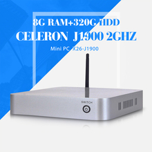 celeron J1900 8g ram 320g hdd+wifi latest mini pc cheap all in one desktop pc smallest computer(China)