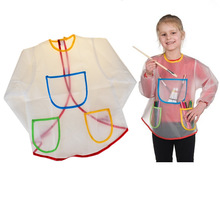 Children's Painting Art Translucent Overclothes Waterproof Antifouling Painting Apron Aprons & Smocks Pvc Material Wholesale(China)