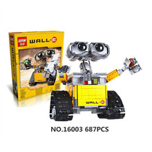 2016 New Lepin 16003 Idea Robot WALL E Figures Building Blocks Bricks Model Set Toys For Kids Children WALL-E Birthday Gifts