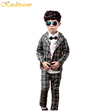 Kindstraum 2017 Boy's Formal Suits England Style Blazer + Pants 2 Pcs/Set Kids Clothing Sets for Wedding & Party Wearing, MC155