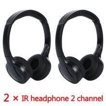 2pcs IR Infrared Wireless headphone Stereo Foldable Car Headset Earphone Indoor Outdoor Music Headphones TV headphone(China)