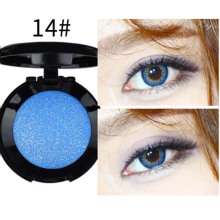 2017 New 1Pcs blue Eye Shadow Powder Shimmer Warm Color Shadow With Eyeshadow Brush Cosmetics E14#(China)