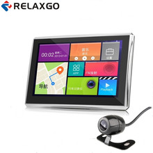 "Relaxgo 7"" Android Car GPS Navigation Wifi With Rearview Camera Parking 1080P Car Camera Video Recorder Automobile GPS Navigator(China)"