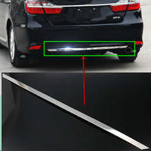 Car Auto Accessory Rear Bumper Plate Tail Bumper Trim For Toyota Camry 2015 Stainless Steel 1Pc Per Set(China)