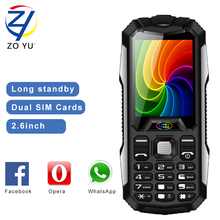 ZOYU D9800 cellphones business phone the outdoor phone  for senior phone 3800 power bank 2G dual sim dual standby mobile phone