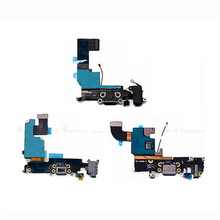 "USB Dock Connector Charging Port Flex Cable For iPhone 4 4S 5 5S SE 5C 6 6S 4.7"" USB Charger Plug Flex Cable Repair Parts"