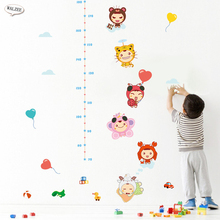 Cartoon Animal doll lovely children Kid baby height growth chart measure wall sticker Boy Girl Nursery decals home decoration