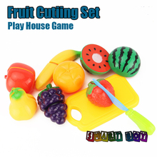 Play House Friuts Cutting game Set,9pcs one pack Mother Garden kitchen TOY Fruits Baby Children's Learning EducationPretend Play(China)